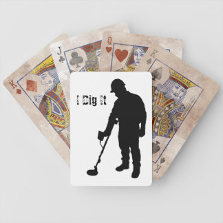 Metal Detecting - I Dig It - Playing Cards