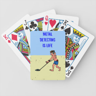 Metal Detecting Is Life Man On Beach Deck Of Cards