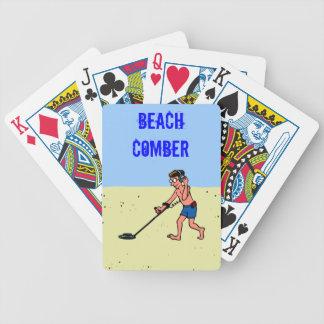 Metal Detecting Man Beach Comber Card Deck