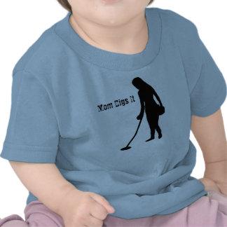 Metal Detecting - Mom Digs It - Infant Shirt