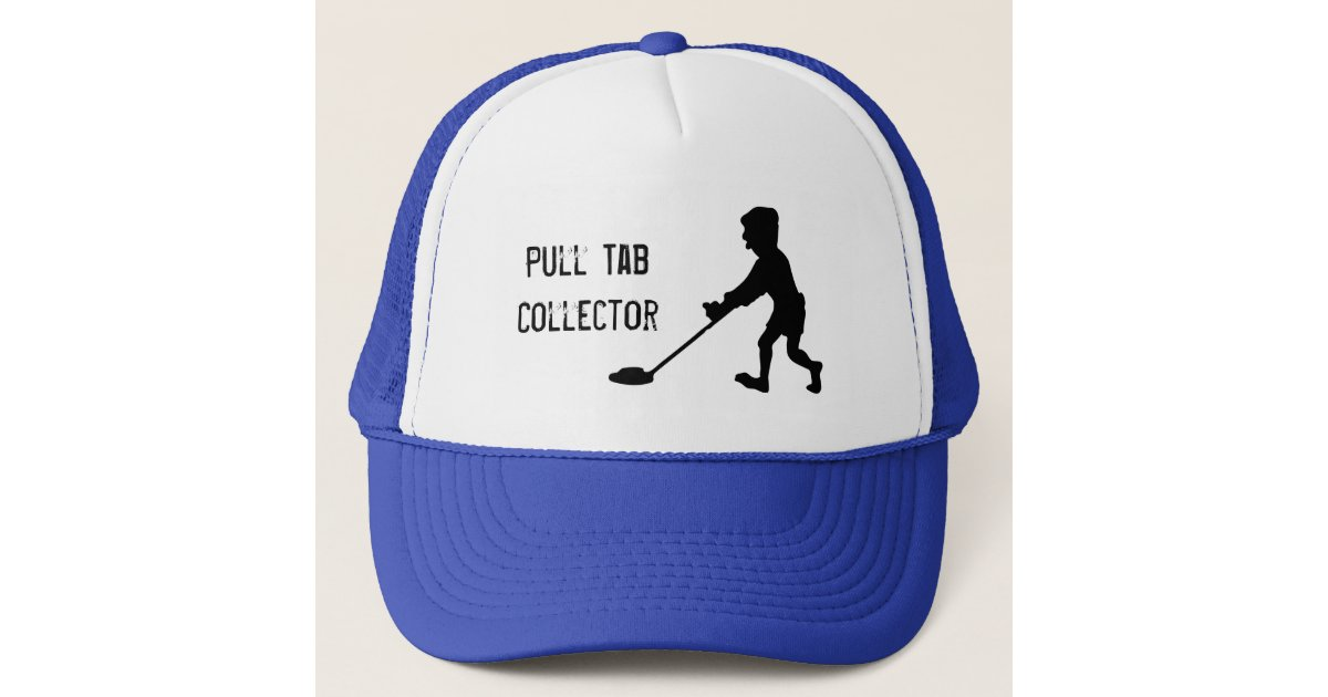 Metal Detector Pull Tab Collector Silhouette Trucker Hat