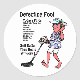Metal Detectors Classic Round Sticker