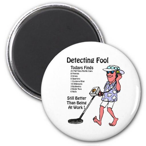Metal Detectors Fridge Magnet
