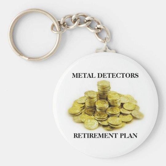 Metal Detectors Retirement Plan Gold Coins Pile Keychain
