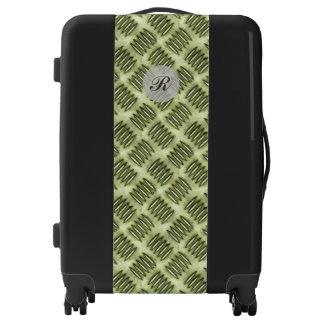 Metal Diagonal Steel Checkerboard Monogram Luggage