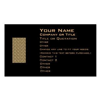 Metal Diamond Plate Business Card