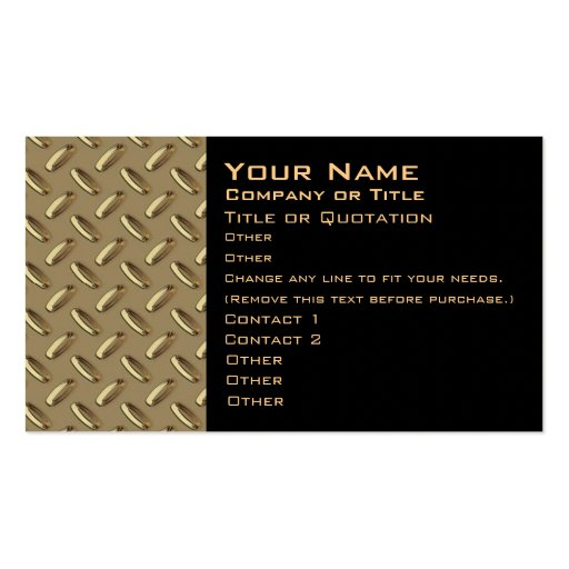 Metal Diamond Plate business card two sided