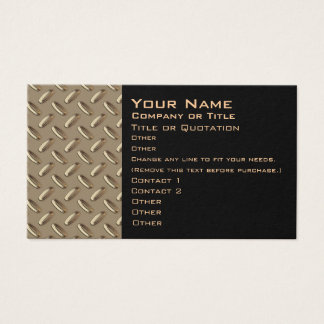 Metal Diamond Plate business card -two sided