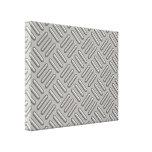 Metal Diamond Plate Patterned Canvas Print