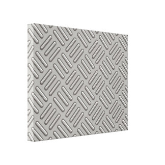 Metal Diamond Plate Patterned Canvas Print