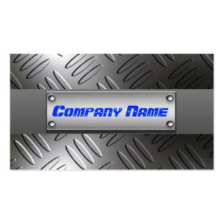 Metal Diamond Plate Professional Business Cards