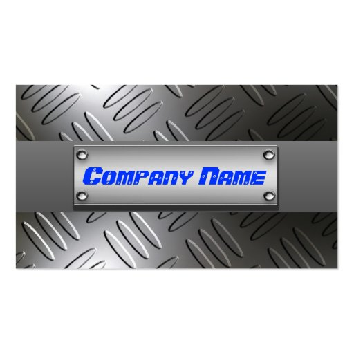 Metal Diamond Plate Professional Business Cards
