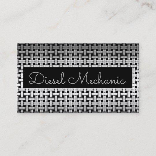 Metal Diesel Mechanic Business Card Zazzle Com