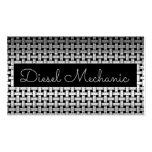 Metal Diesel Mechanic Business Card