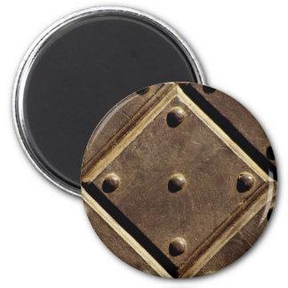 Metal door pattern Photo Refrigerator Magnets