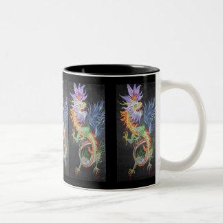 Metal Dragon Two-Tone Coffee Mug
