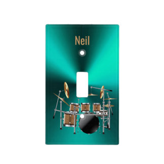Metal light switch covers zazzle metal drum set personalized light switch cover sciox Image collections