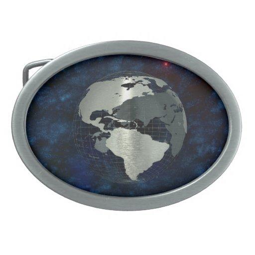 Metal Earth Globe Belt Buckles