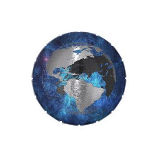 Metal Earth Globe Candy Tins
