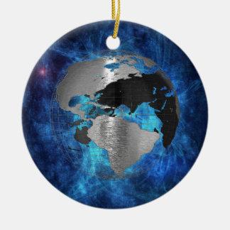 Metal Earth Globe Ceramic Ornament