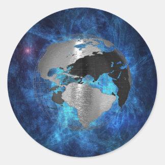 Metal Earth Globe Classic Round Sticker