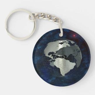 Metal Earth Globe Keychain