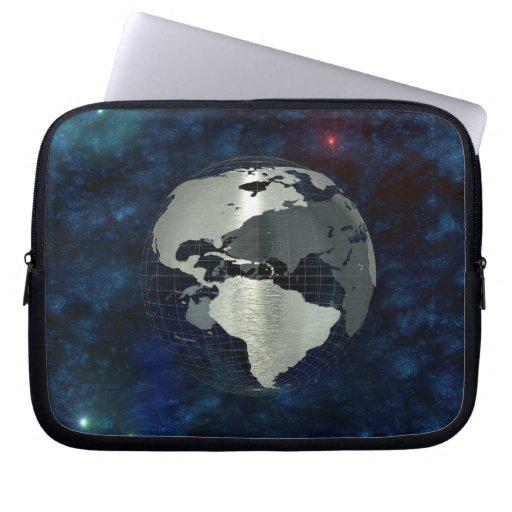 Metal Earth Globe Laptop Computer Sleeves