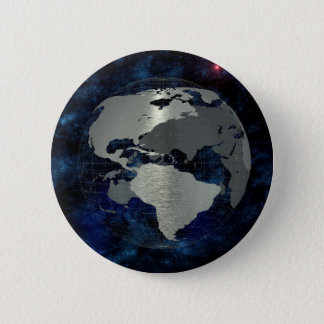 Metal Earth Globe Pinback Button