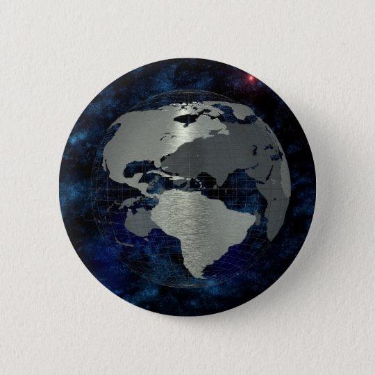 Metal Earth Globe Pinback Button