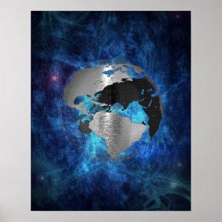 Metal Earth Globe Poster