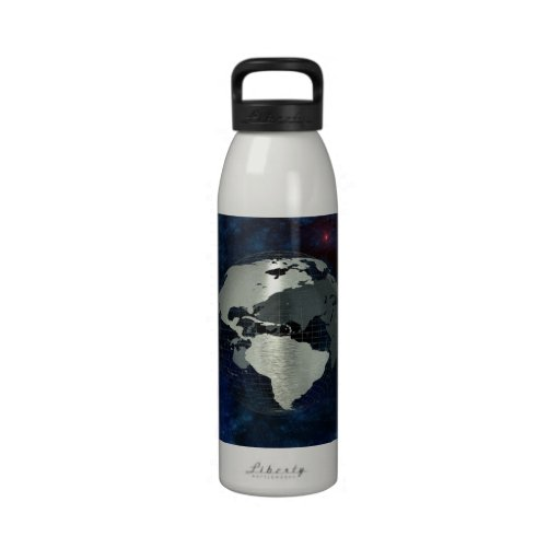 Metal Earth Globe Water Bottles