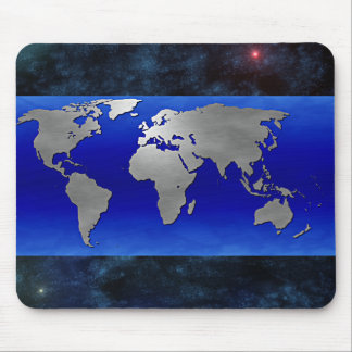 Metal Earth Map and Stars Mouse Mats
