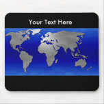Metal Earth Map, Customizable Mouse Pad