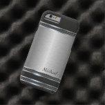 Metal elegante del acero inoxidable con la mirada funda de iPhone 6 tough