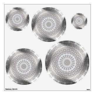 METAL Element Kaleido circles wall decal
