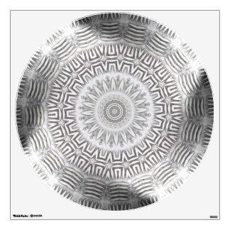 METAL Element Kaleido Pattern circle wall decal