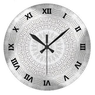METAL Element Kaleido Pattern Large Clock