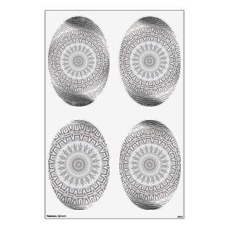 METAL Element Kaleido Pattern ovals wall decal