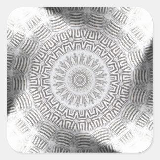 METAL Element Kaleido Pattern Square Sticker