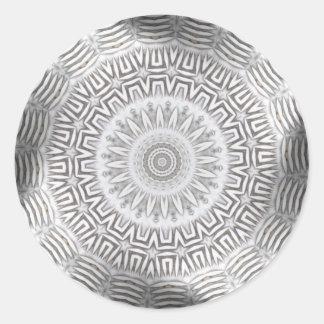 METAL Element Kaleido Pattern Classic Round Sticker