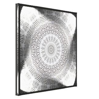 METAL Element Kaleido Pattern wrapped canvas print
