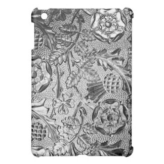 Metal Emboss Flowers Design High Finish ARt iPad Mini Cover
