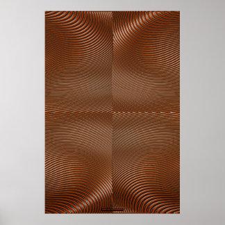 Metal en el arte de cobre Lge de la pared de la il Póster