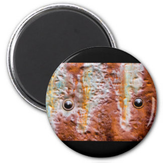 metal eyes rust 2 inch round magnet