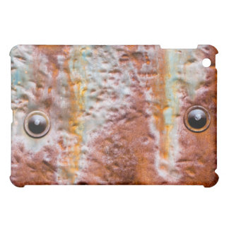metal eyes rust iPad mini case