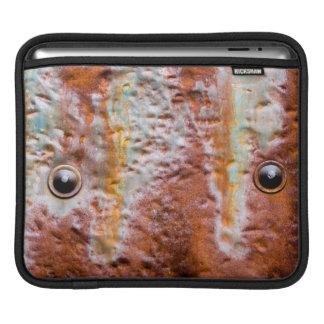 metal eyes rust iPad sleeves