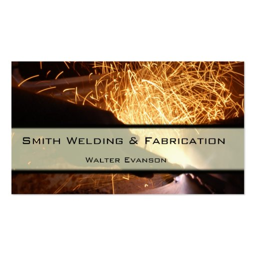 Metal fabrication and welding business card zazzle for Welding business card ideas