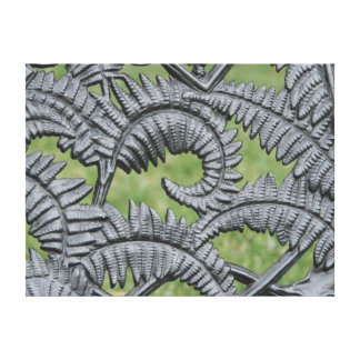 Metal Fern Print on Canvas Canvas Print
