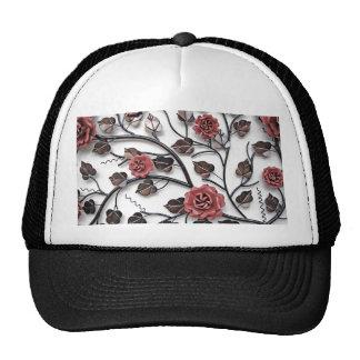 metal flowers trucker hat