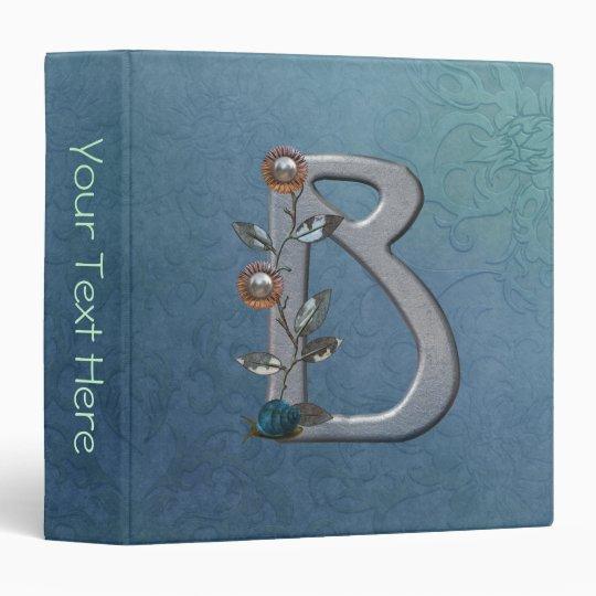 Metal Flowers Monogram B Binder